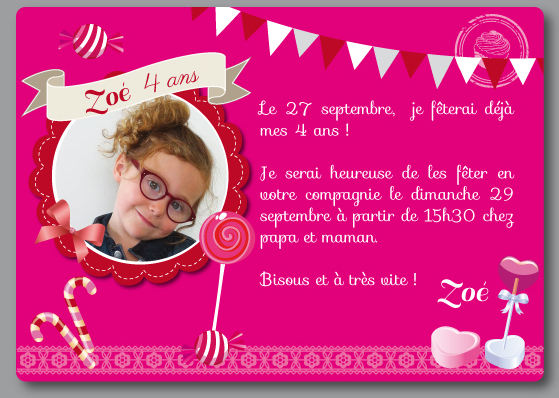 Texte Carte Invitation Anniversaire 5 Ans Fille Elearningsummit
