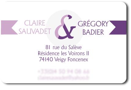 Cration Dune Carte De Visite Pour Un Couple Claire Et Grgory
